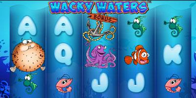 игровой автомат под названием Wacky Waters от playtech